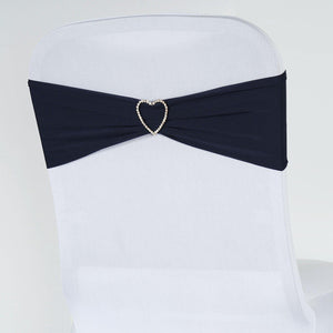 5pc x Chair Sash Spandex - Navy Blue