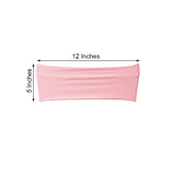"5 pack | 5""x12"" Pink Spandex Stretch Chair Sash"