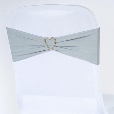 5pc x Chair Sash Spandex - Silver