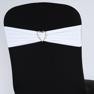 5pc x Chair Sash Spandex - White