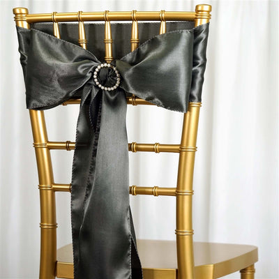 5pcs Laurel Green SATIN Chair Sashes Tie Bows Caterings - 6x106""