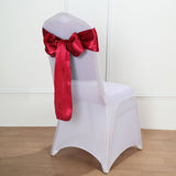 "5 pack | 6""x106"" Wine Satin Chair Sash - Clearance SALE"