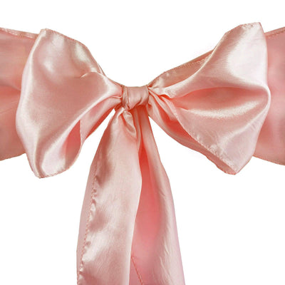 5pcs Mauve SATIN Chair Sashes Tie Bows Catering Wedding Party Decorations - 6x106""