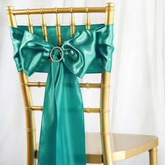 5pcs Turquoise SATIN Chair Sashes Tie Bows Catering Wedding Party Decorations - 6x106""