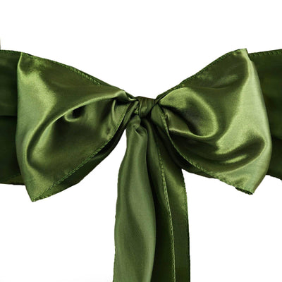 5pcs Willow Green SATIN Chair Sashes Tie Bows Catering Wedding Party Decorations - 6x106""