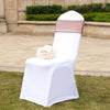 5 Pack Blush | Rose Gold Metallic Shiny Glittered Spandex Chair Sashes For Wedding Party