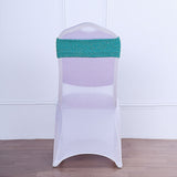 5 Pack | Turquoise Metallic Shiny Glittered Spandex Chair Sashes