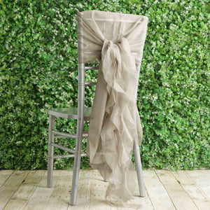1 Set Natural Premium Designer Curly Willow Chiffon Chair Sashes
