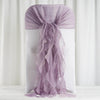 1 Set Amethyst Violet Chiffon Hoods With Curly Willow Chiffon Chair Sashes