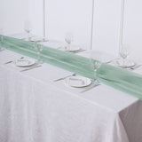 6 FT | Dusty Sage Premium Chiffon Table Runner