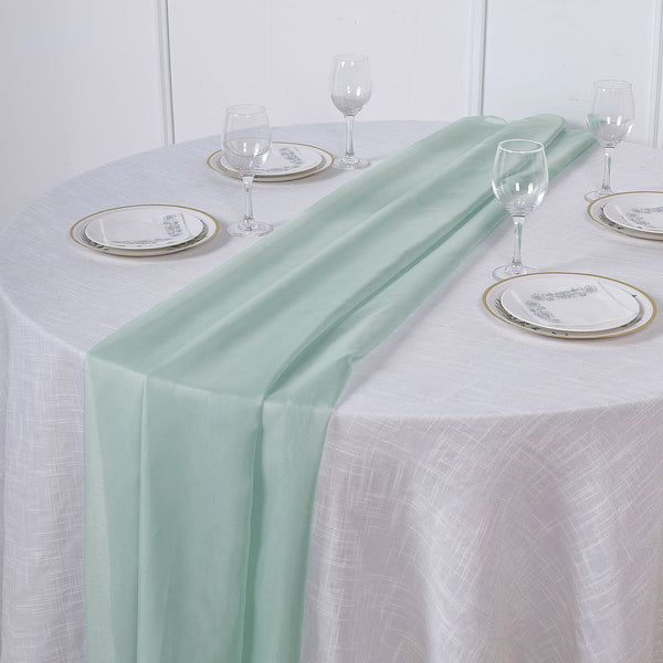 6FT | Dusty Sage Premium Chiffon Table Runner