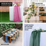 6FT | Sage Green Premium Chiffon Table Runner