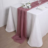 6FT | Mauve Premium Chiffon Table Runner