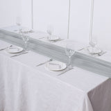6 FT | Silver Premium Chiffon Table Runner