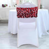 5 Pack | Burgundy Big Payette Sequin Round Chair Sashes