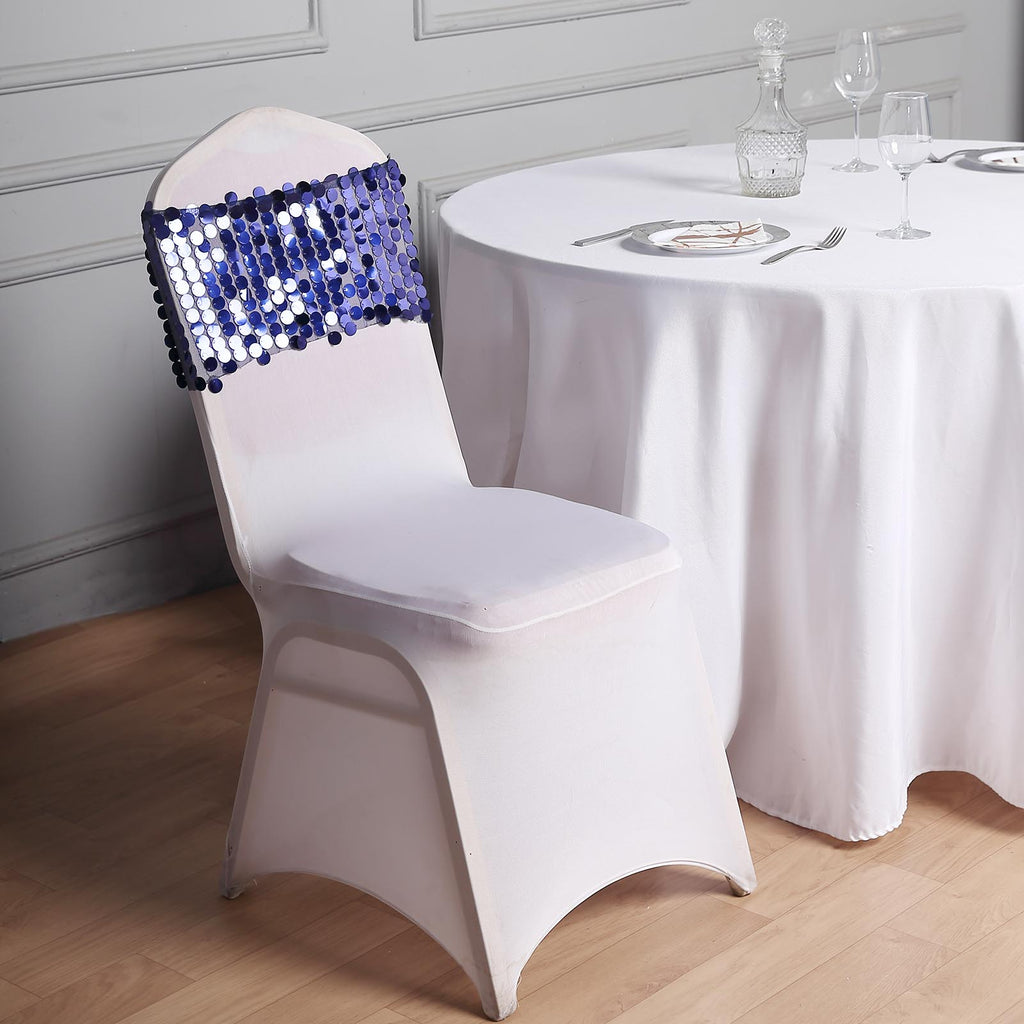160gsm White Stretch Spandex Banquet Chair Cover Tableclothsfactory