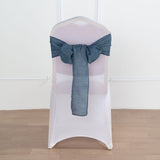Premium Faux Linen Chair Sashes, Slubby Textured Wrinkle Free Chair Sashes