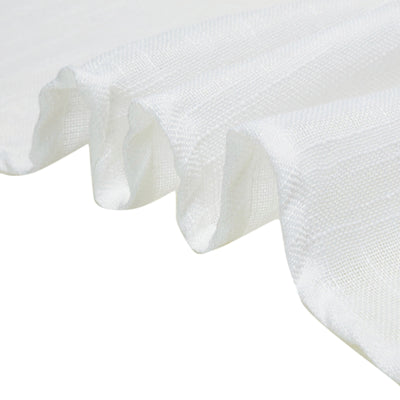 5 Pack | White Linen Chair Sashes, Slubby Textured Wrinkle Resistant Sashes