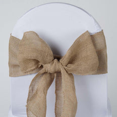 Authentic Rustic Burlap Sash - Natural Tone
