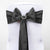 5 PCS CHARCOAL GREY Polyester Chair Sashes Tie Bows Catering Wedding Party Decorations - 6x108""