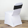 "5 pack | 6""x15"" Black Sequin Spandex Chair Sash"