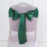 "5 pack | 6""x106"" Hunter Emerald Green Satin Chair Sash"