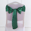 "5 pack | 6""x106"" Hunter Green Satin Chair Sash"