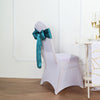 "5 pack | 6"" x 106"" Teal Satin Chair Sash"