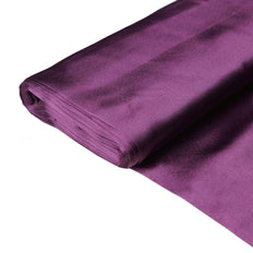 "Wedding Party Bridal Dress Decorative Satin Fabric Bolt - EGGPLANT - 54"" x 10 Yards"