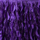 21ft Enchanting Curly Willow Taffeta Table Skirt - Purple