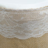 14ft Natural Jute Burlap Table Skirt