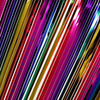29inch x 9FT Rainbow Metallic Foil Fringe Table Skirt, Self Adhesive Party Table Skirt#whtbkgd