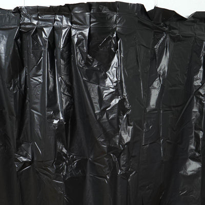 14Ft. Black Pleated Spill Proof & Waterproof Wipe Clean Table Skirt