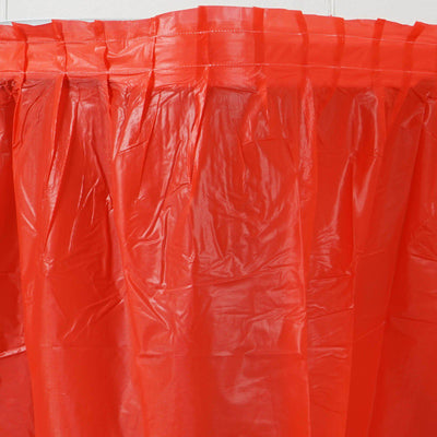 14Ft. Red Pleated Spill Proof & Waterproof Wipe Clean Table Skirt