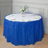 14Ft. Royal Blue Pleated Spill Proof & Waterproof Wipe Clean Table Skirt