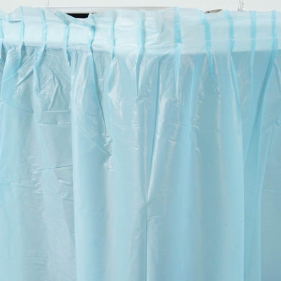 14Ft. Serenity Blue Pleated Spill Proof & Waterproof Wipe Clean Table Skirt