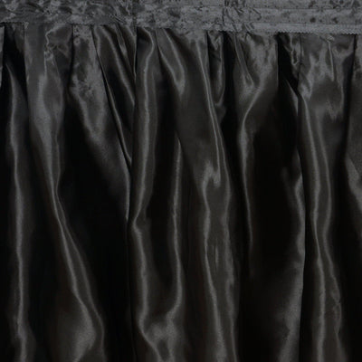 Black Table Skirt / Satin - 17'