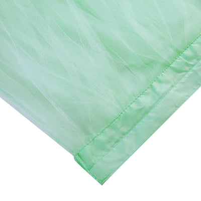 21 FT Mint Green 4 Layer Tulle Tutu Pleated Table Skirts