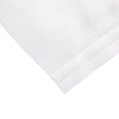14FT White 8 Layer Tulle Tutu Pleated Table Skirt