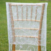 White Organza Chiavari Chair Covers | Chair Slipcovers with Satin Embroidery