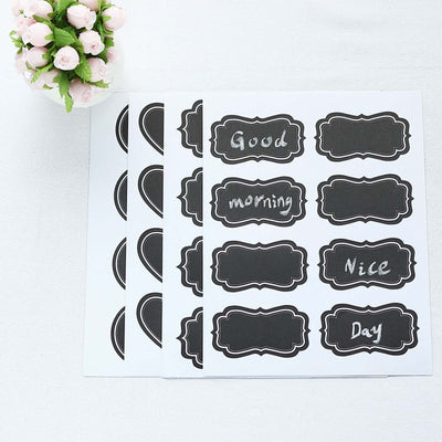 192 PCS Erasable Self Adhesive Chalkboard Labels with 4 PCS Chalk