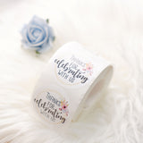 500pcs | 2 inch Floral Thank You for celebrating with Us Stickers Roll, Wedding Favor Envelopes Seal