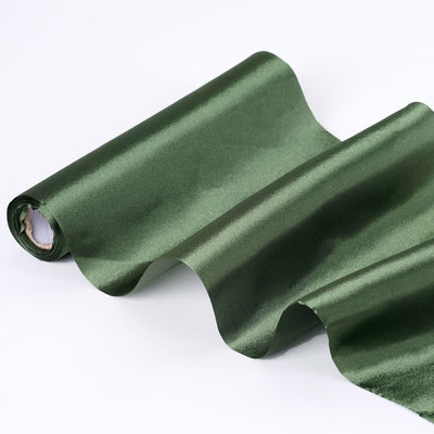 "12""x10 Yards Moss/Willow Green Satin Fabric Bolt"