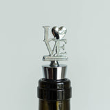 Silver Metal Love Wine Bottle Stopper Wedding Favor With Velvet Gift Box