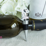 Silver Metal Love Wine Bottle Stopper With Velvet Gift Box