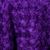 "132"" PURPLE Wholesale Grandiose Rosette 3D Satin Tablecloth For Wedding Party Event Decoration"