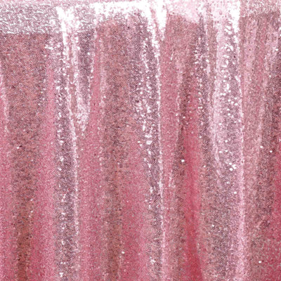 "108"" Pink Premium Sequin Round Tablecloth#whtbkgd"