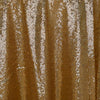 "108"" Wholesale Premium SEQUIN Round Tablecloth For Wedding Banquet Party - Gold"