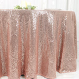 120 inches Rose Gold|Blush Premium Sequin Round Tablecloth#whtbkgd