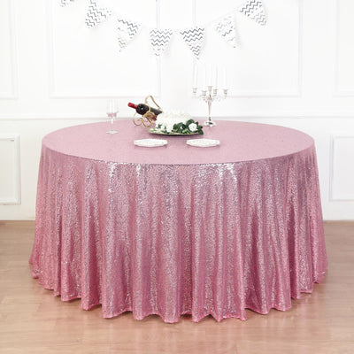132 inch Round Tablecloth, Sequin Tablecloth